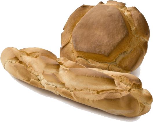 barra y hogaza pan sobado